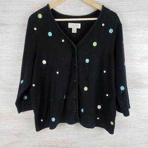 CJ Banks Button Sweater